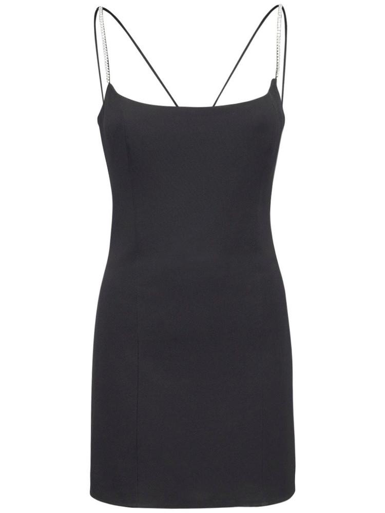AZZARO Honey Classic Viscose Jersey Mini Dress in black