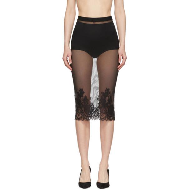 I.D. Sarrieri Black Lace Midi Skirt