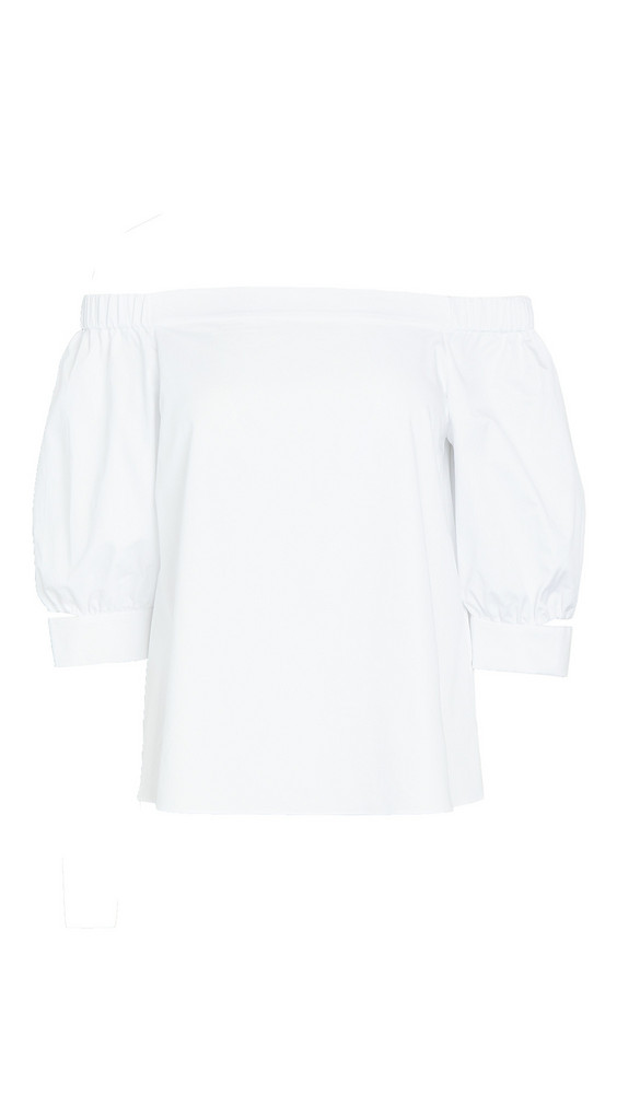 Tibi Detached Sleeve Top in white