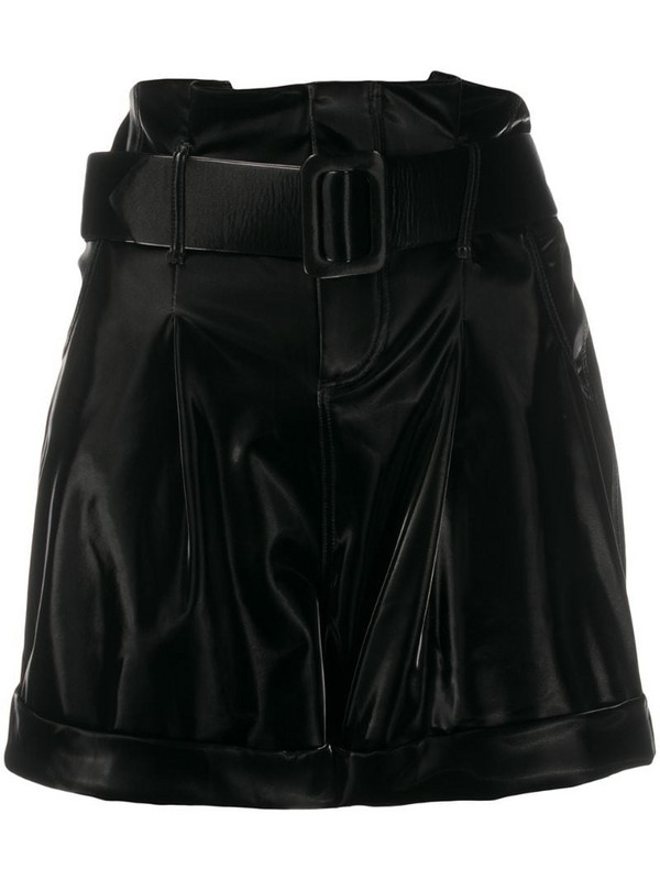 Federica Tosi paperbag waist shorts in black