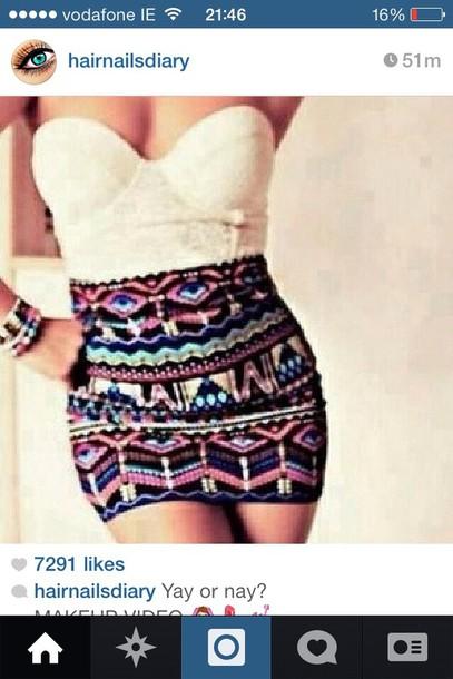skirt jewels tank top