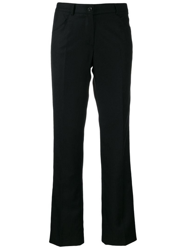 Chanel Pre-Owned 2004 tailored bootcut trousers in black