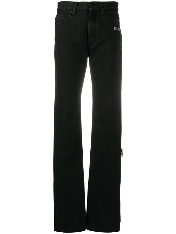 Off-White mid-rise straight-leg jeans in black
