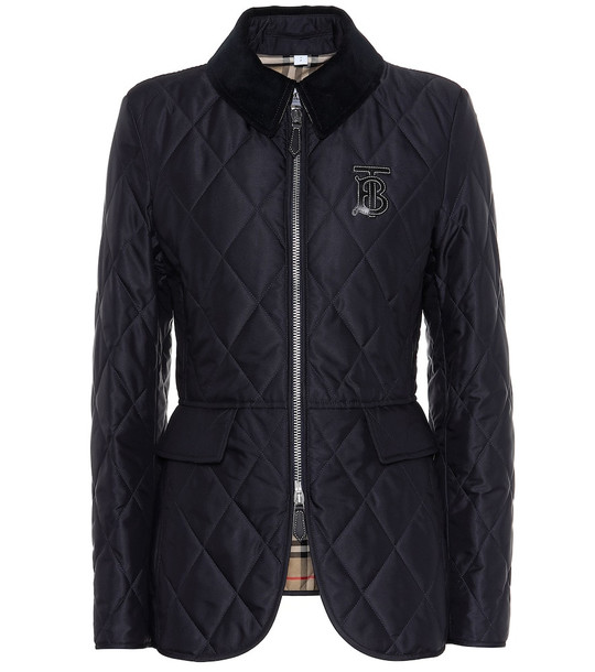 Burberry Quilted twill jacket in blue