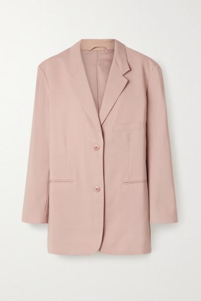 Frankie Shop - Pernille Oversized Woven Blazer - Blush