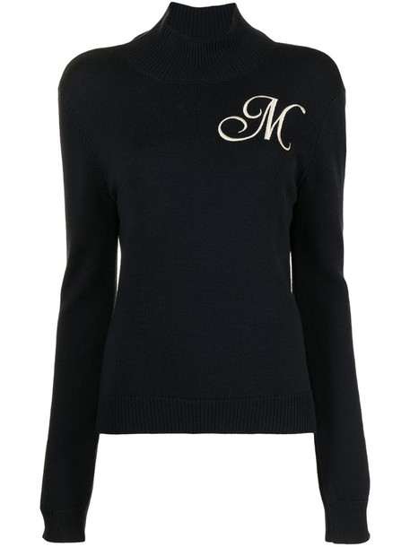 Monse embroidered-logo jumper in blue