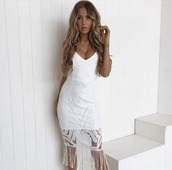 dress,white,midi dress,cocktail dress,lace dress,party dress