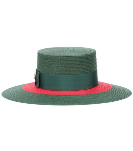 Gucci Papier wide brim hat in green