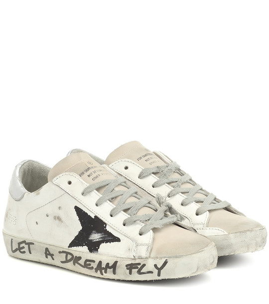 Golden Goose Superstar leather sneakers in white