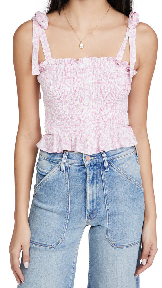 Lost + Wander Lost + Wander Lets Go To Paris Cami Top in pink / white