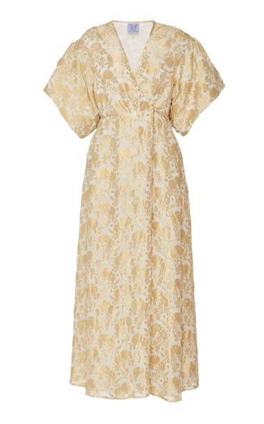 Thierry Colson Marieke Floral Silk-Blend Brocade Maxi Dress