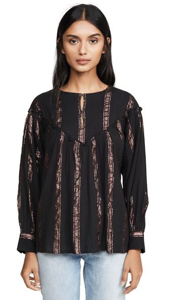 Antik Batik Julia Blouse in black