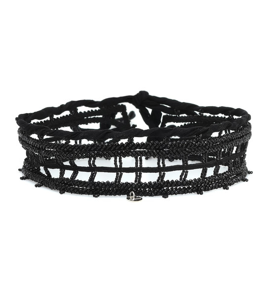 Jil Sander Beaded choker in black
