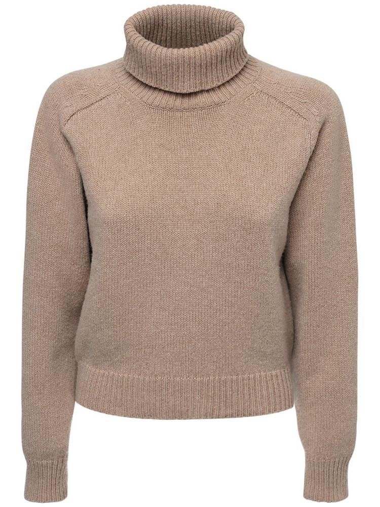 MAISON MARGIELA Knit Wool & Alpaca Turtleneck Sweater in beige