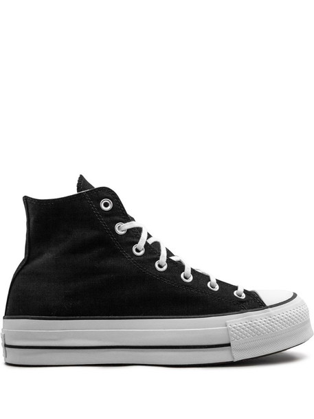 Converse platform high-top sneakers in black