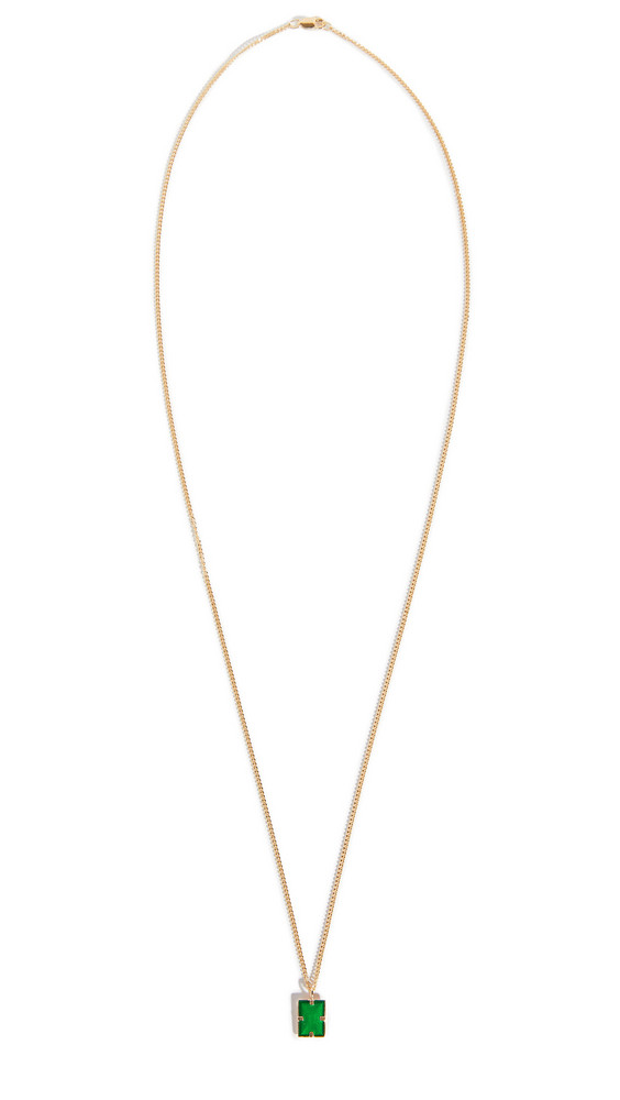 Miansai Lennox Pendant Necklace in gold / green