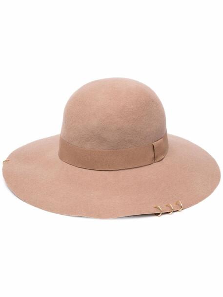 catarzi wide brim fedora hat - Neutrals