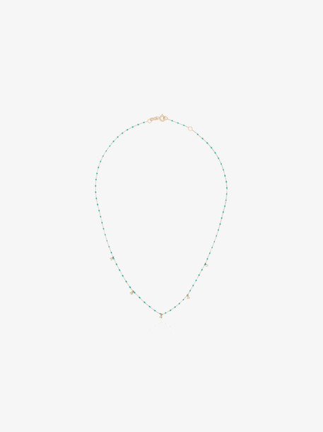 Gigi Clozeau 18kt rose gold diamond beaded necklace