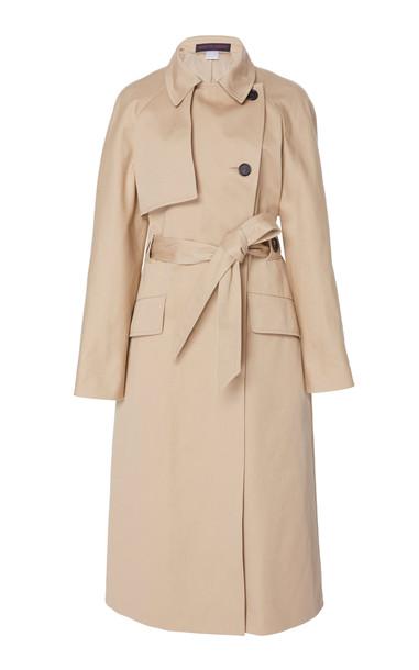 Martin Grant Cotton-Gabardine Trench Coat Size: 34 in neutral