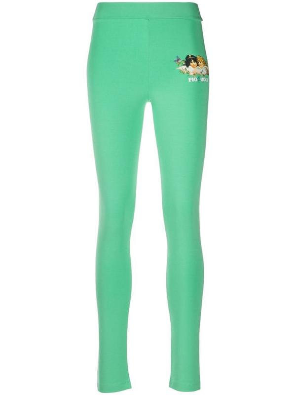 Fiorucci Woodland Angels leggings in green