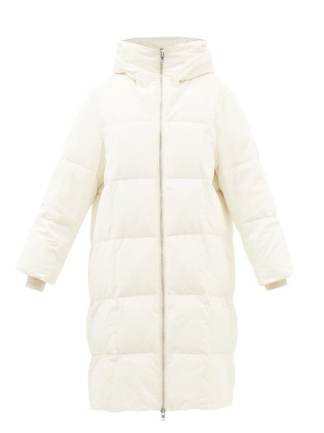 Stand Studio - Saylor Hooded Quilted Down Coat - Womens - Ivory