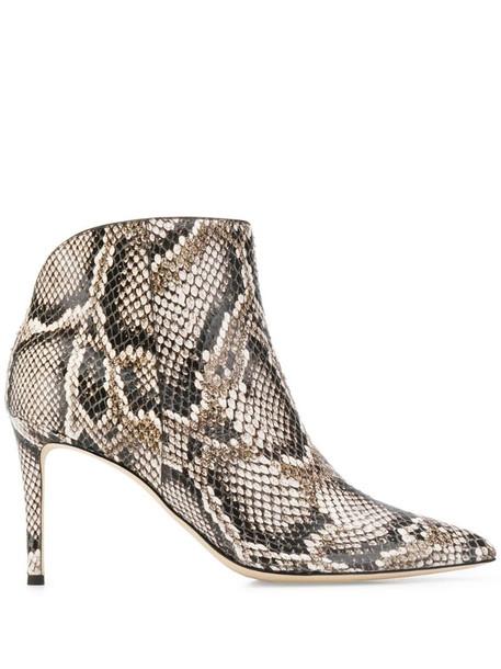 Giuseppe Zanotti Tysha snakeskin effect boots in neutrals