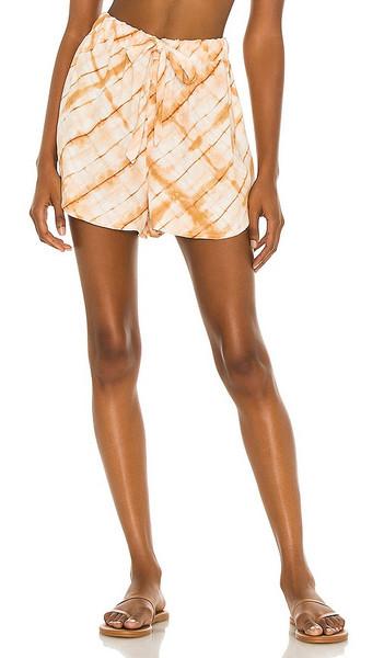 House of Harlow 1960 x Sofia Richie Ilora Short in Orange in tan