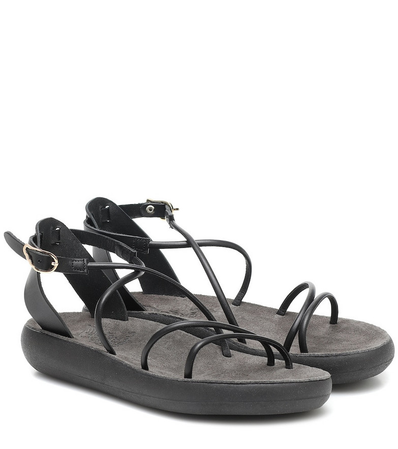 Ancient Greek Sandals Anastasia Comfort leather sandals in black