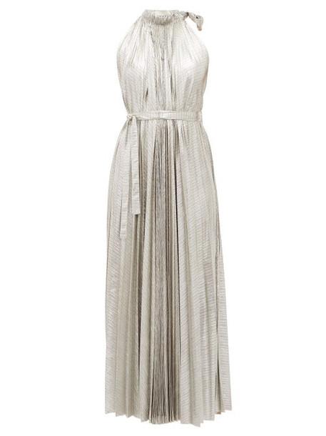 A.w.a.k.e. Mode - Oyster Halterneck Midi Dress - Womens - Silver