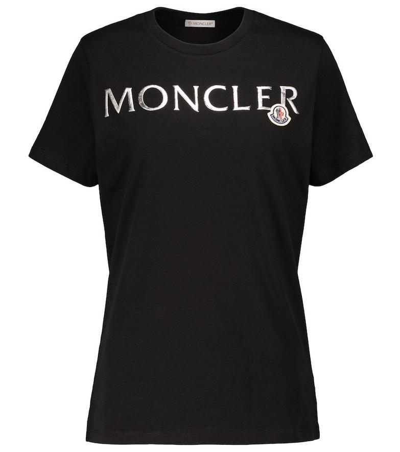 Moncler Logo cotton jersey T-shirt in black