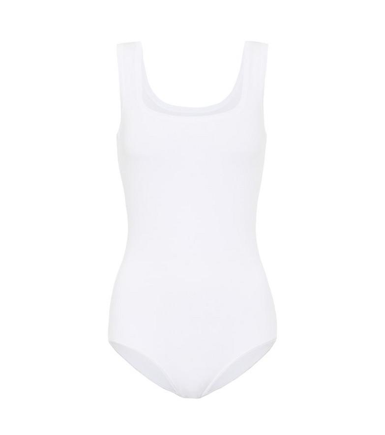 Alaïa Stretch-knit bodysuit in white