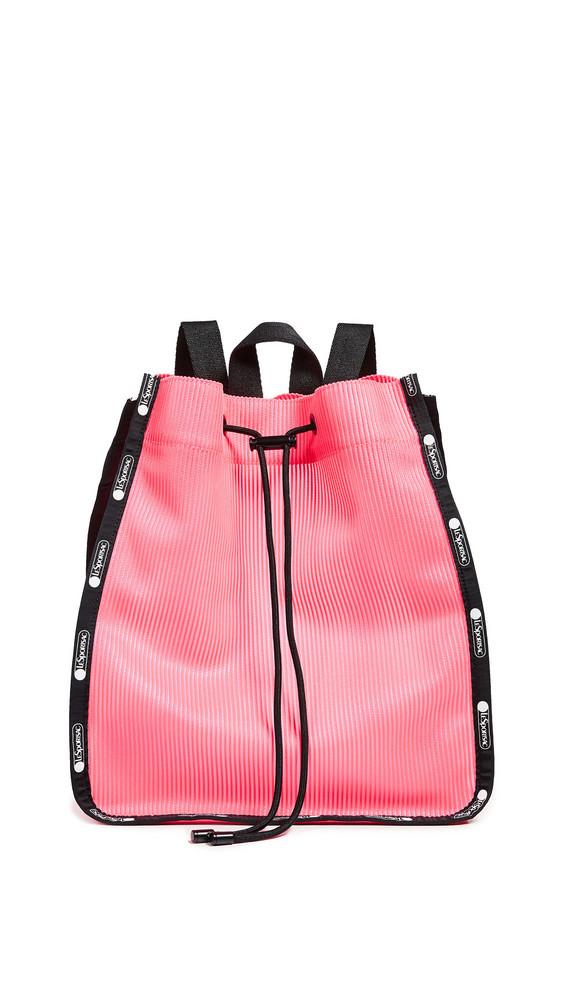 LeSportsac Nadine Drawstring Backpack in pink