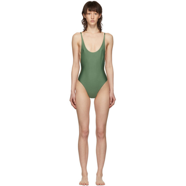 05136f8190 Haight Green Thin Strap One-Piece Swimsuit - Wheretoget