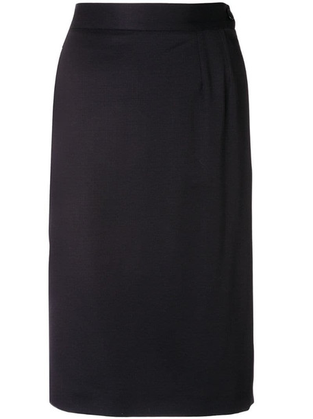 Yves Saint Laurent Pre-Owned 1980's fitted short skirt in blue