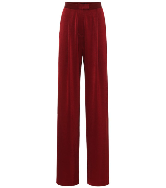 Alex Perry Hartley high-rise satin crêpe pants pants in red