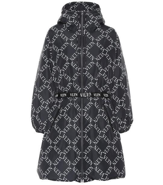 Valentino VLTN nylon puffer coat in black