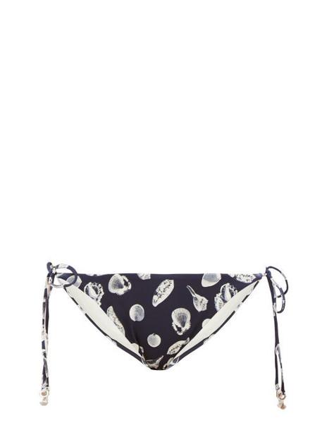 The Upside - Alba Shell-print Bikini Briefs - Womens - Navy Print