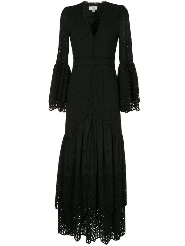 We Are Kindred Lua broderie anglaise gown in black