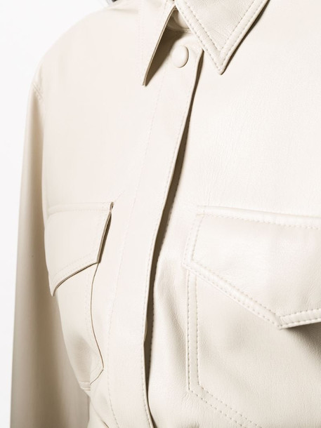 Nanushka tie-waist shirt in neutrals