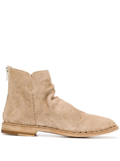 Officine Creative zipped ankle boots in neutrals