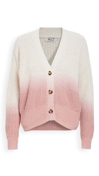 Madewell Dip Dye Button Canyonlands Cardigan in pink