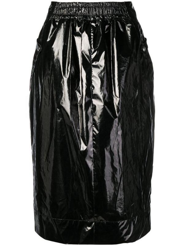Kwaidan Editions varnished midi skirt in black