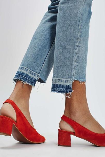 jeans frayed denim straight jeans blue jeans