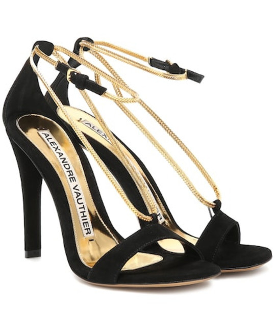 Alexandre Vauthier Alena suede sandals in black