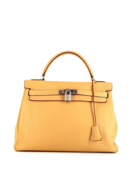 Hermès 2011 pre-owned Kelly 32 bag in yellow