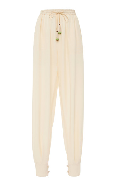 Etro Cotton Tapered Pants Size: 38 in white