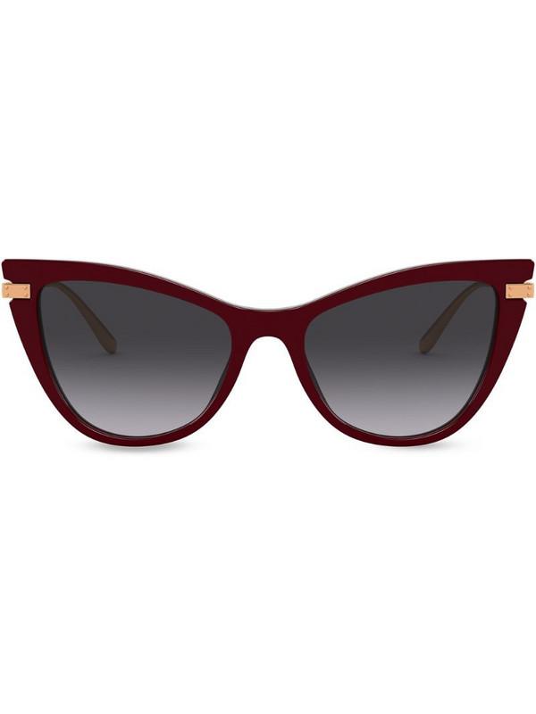 Dolce & Gabbana Eyewear cat-eye frame sunglasses in red