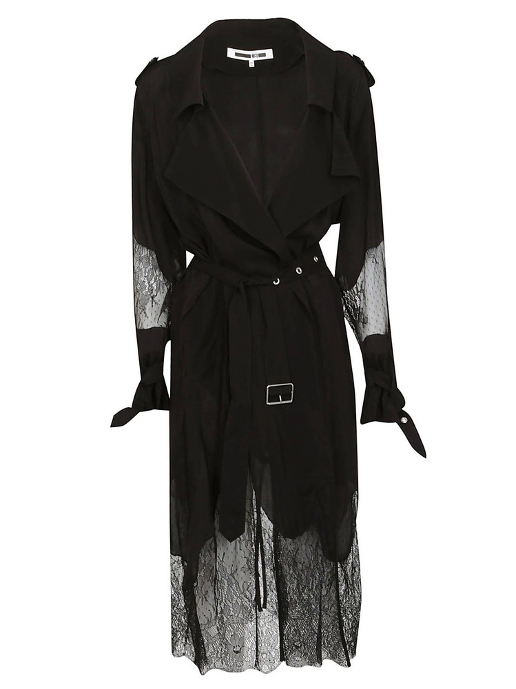 Mcq Alexander Mcqueen Lace Insert Trench in black
