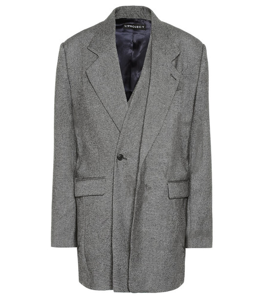 Y/PROJECT Wool and cashmere blazer in grey