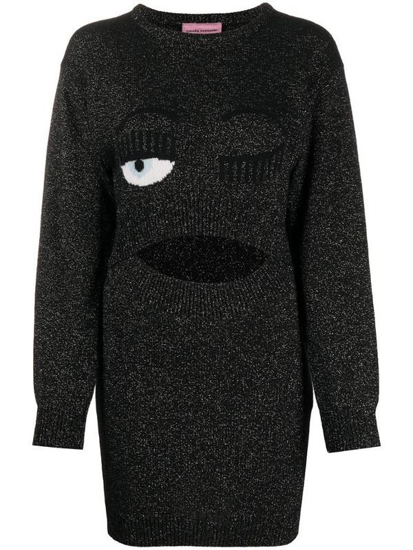 Chiara Ferragni Flirting jumper dress in black